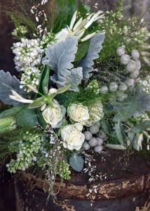 White Hand-tied Bouquet