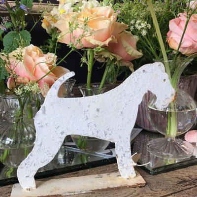Distressed Metal Fox Terrier