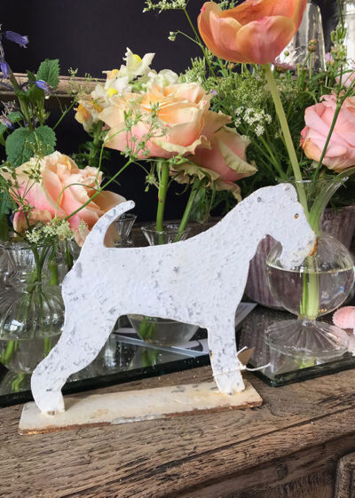Distressed Metal Fox Terrier